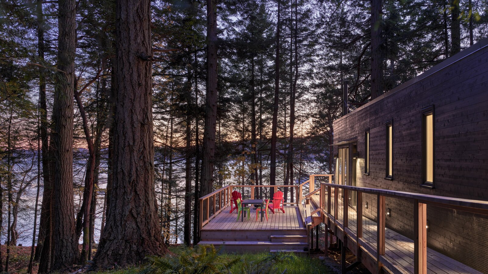 HPA Architecture and Design Salt Spring cabin exterior patio