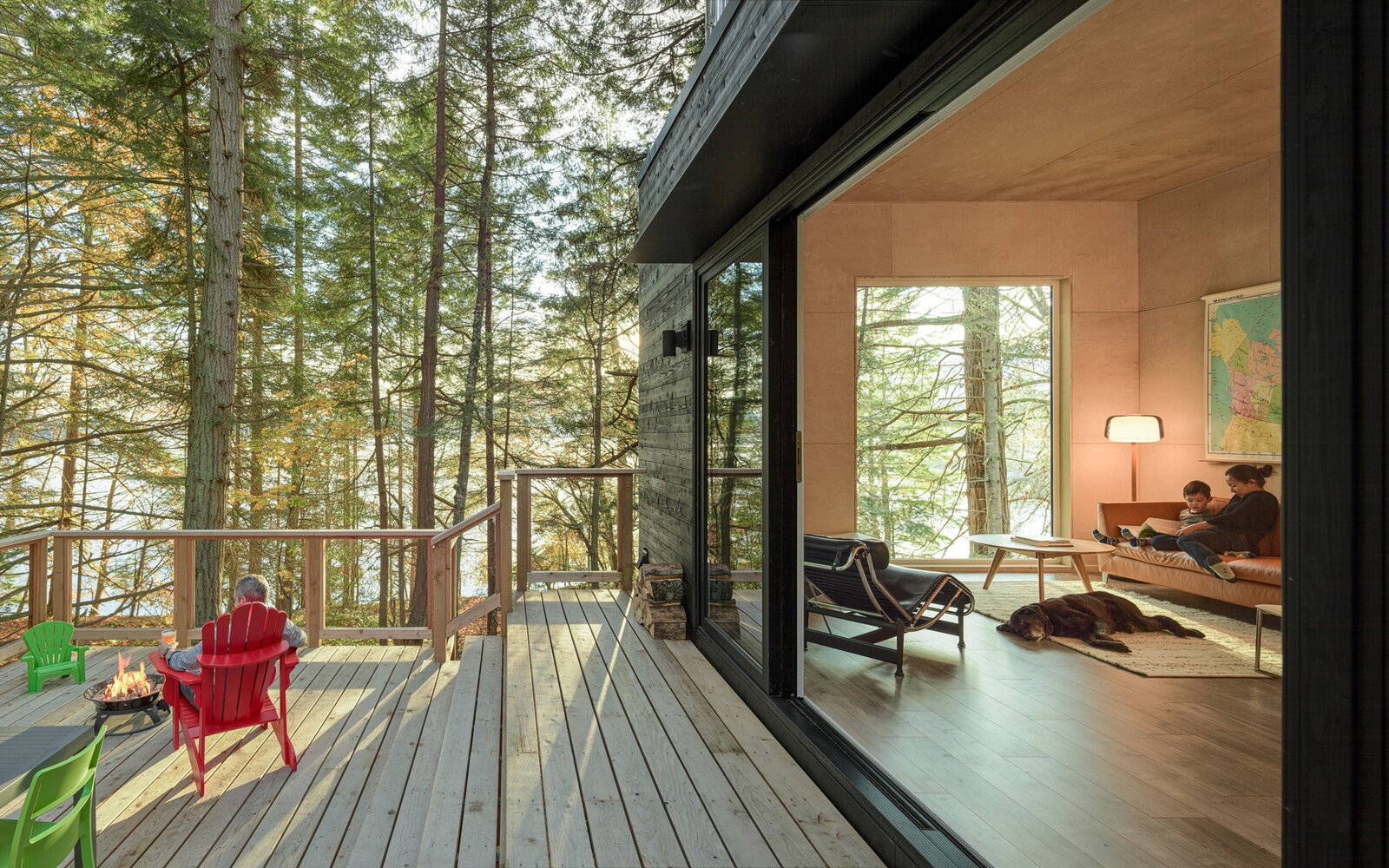 HPA Architecture and Design salt spring cabin patio