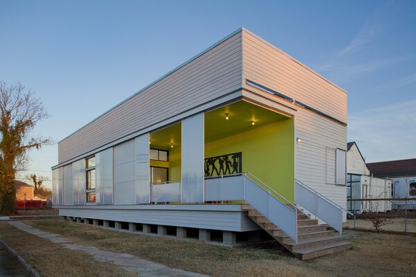 Back in 2010, UrbanBuild's UB04 project was the center of Dwell's Future of Design Education story. The student designed-and-built home responded to New Orlean's requirements for hurricane preparedness with a shutter system made from impact-resistant polycarbonate materials
