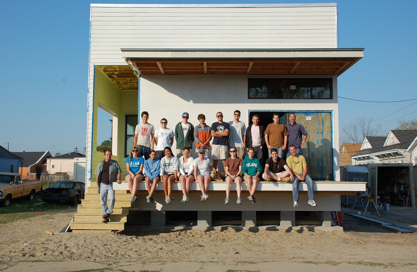 The students of UrbanBuild's 2010 design-build program in front of the LEED silver home they dreamed up and crafted together.  Photo 5 of 7 in How Can Higher Education Build a Better Architect?