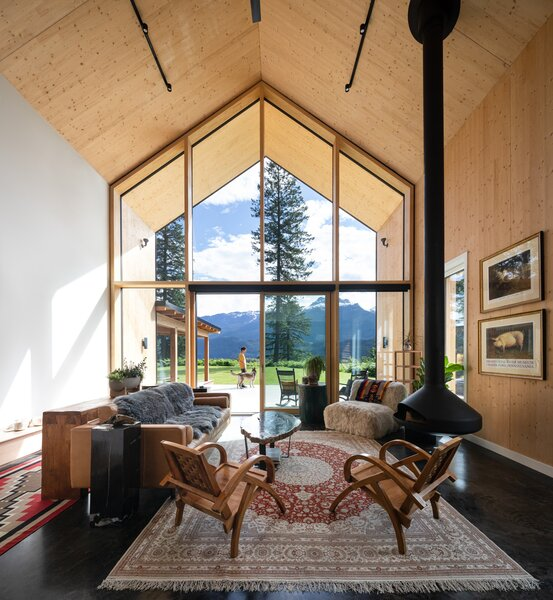 Cross-laminated timber (CLT) walls and ceilings give Lexi duPont's home a cabin feel.