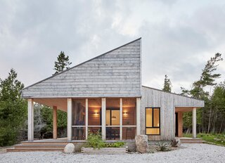 "Clad in natural pine, the building is designed to weather as it may. ""As artists, Donna and Oliver love that idea of something living,"" says Lolley. ""The house is sort of like an art piece in itself. What will it look like next year? What will it look like tomorrow?"""