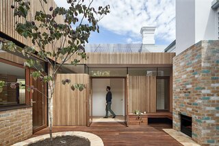 Before & After: Confetti-Like Brick and a Secret Passageway Bring Whimsy to a Melbourne Edwardian
