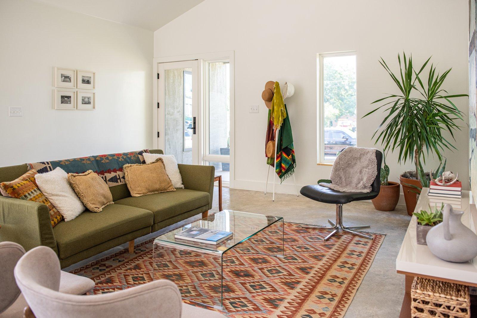 Living room of Haciendas house by Lake Flato