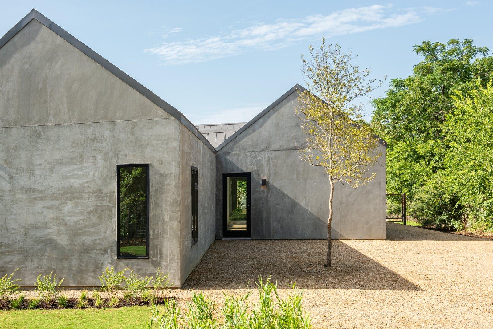 Exterior of Haciendas house by Lake Flato