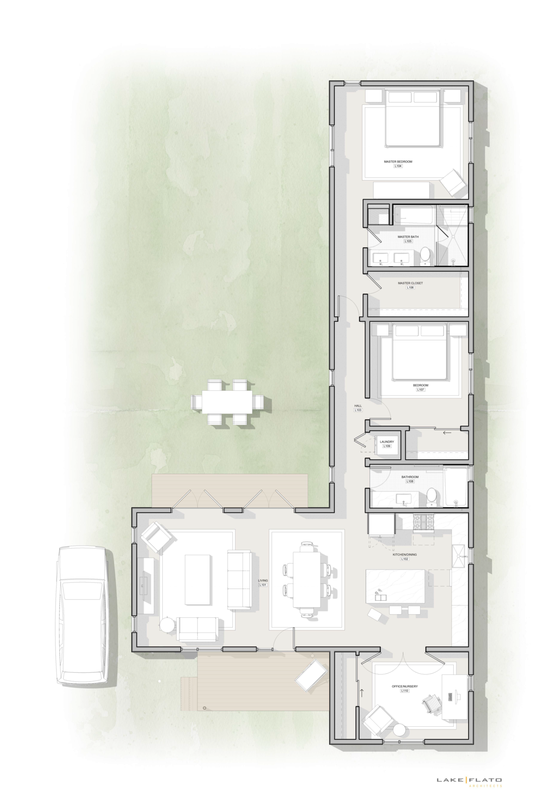 Haciendas by Lake Flato floor plan  Photo 15 of 17 in Lake Flato's Wellness-Focused Haciendas in Dallas Start at $589K