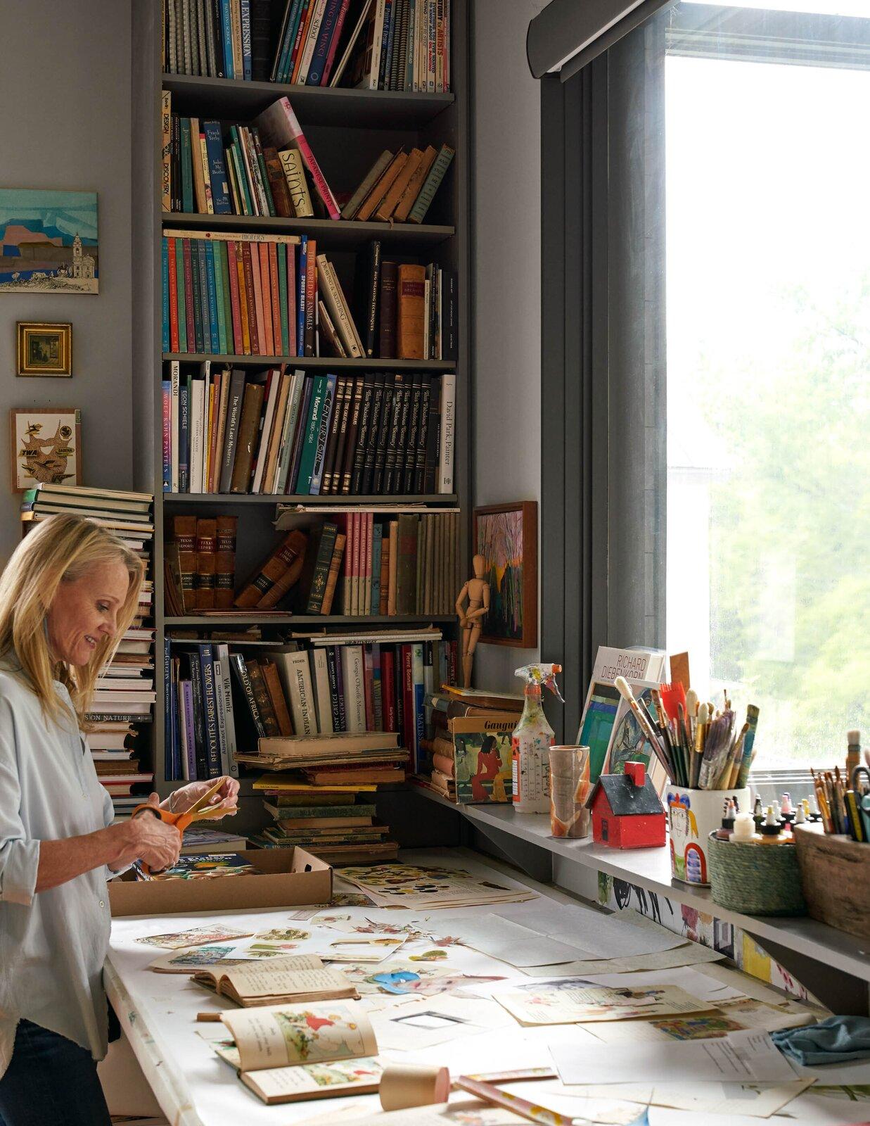 Art studio in River House 2 by Bentley Tibbs Architect