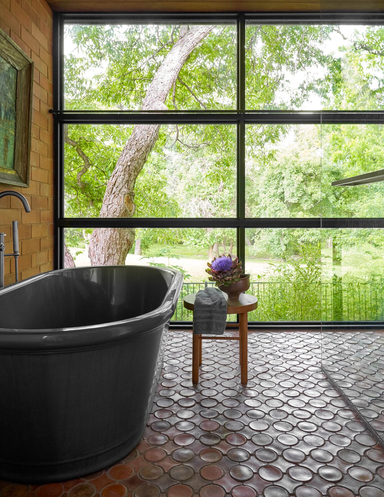 Bathroom in River House 2 by Bentley Tibbs Architect