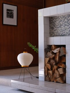 Floating marble hearth