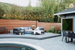 Modern Suburban Backyard