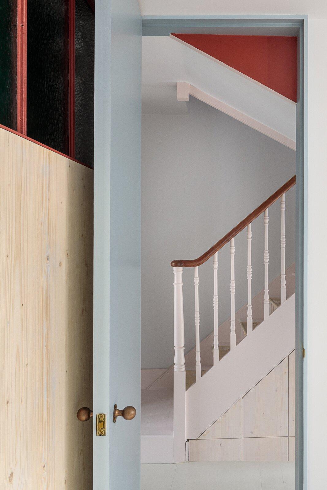 Bedroom and Medium Hardwood Floor Looking from the childrens' bedroom towards the hallway  Primrose Hill