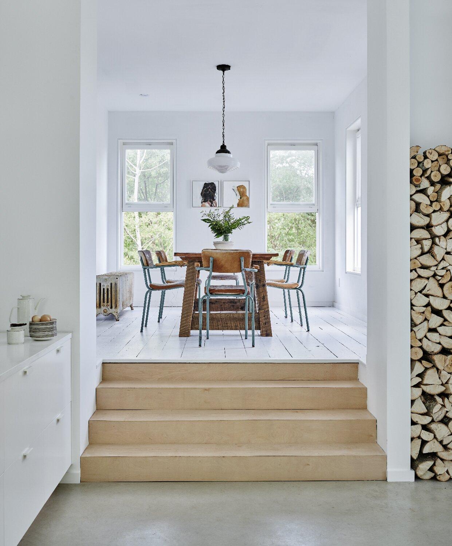 Dining room in County Farmhouse by Nova Tayona Architects