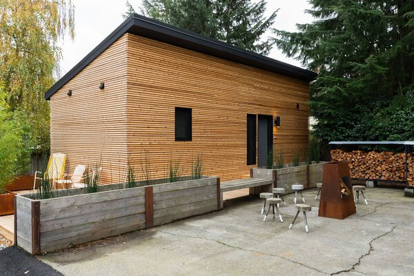 Michael Benjamin Lerner of the band Telekinesis collaborated with local prefab builder NODE to build a 392-square-foot DADU in Lerner's Seattle backyard. The builder took care of design, permitting, site prep, and the foundation and framing. Michael tackled the finish work.