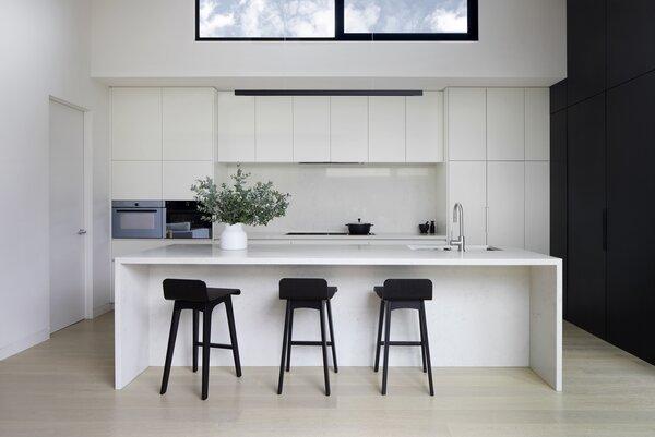 White Kitchen with High Window