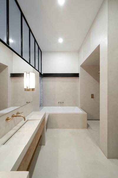 Bathroom a few steps up