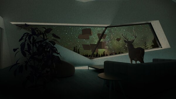 Max_Wirsing_Yale studio_ Living Room with Deer