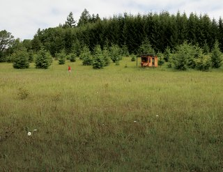 """Modern Off-the-Grid Retreat in Oregon - Photo 1 of 4 - Though the retreat is clearly meant to afford the solitude writing so often requires, Kathleen reports that """"it's very lively. Deer approach, birds bathe. The sun warms my desk and you can hear the rain."""""""