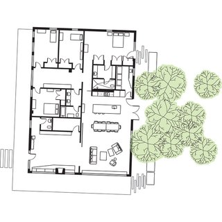 Bragg House Floor Plan<br><br>A Kid's Bedroom<br><br>B Master Bedroom<br><br>C Study Hall<br><br>D Master Bathroom<br><br>E Bathroom<br><br>F Kitchen<br><br>G Sitting-Dining Area<br><br>H Living Room<br><br>I Laundry Room<br><br>J Half-Bathroom