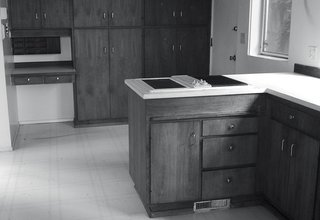 The original midcentury kitchen was dark and disconnected.