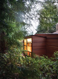 Claire and Ken Stevens approached architect Ko Wibowo to create a modern addition to their 1970s home in Tacoma, Washington. The couple's needs had changed since Ken was diagnosed with Alzheimer's a few years ago.