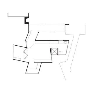 Stevens Addition Floor Plan<br><br>A    Existing Entry<br><br>B    Existing Living Room<br><br>C    Bridge Connector<br><br>D    Bedroom<br><br>E    Bathroom<br><br>F    Study<br><br>G    Enclosed Deck