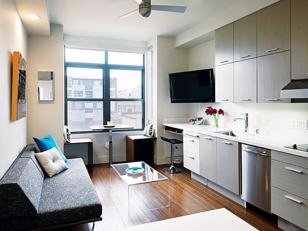 """""""It's important to be able to get rid of the bed,"""" says developer Patrick Kennedy. """"To me, there's nothing inherently more depressing than looking at the bed all day."""""""
