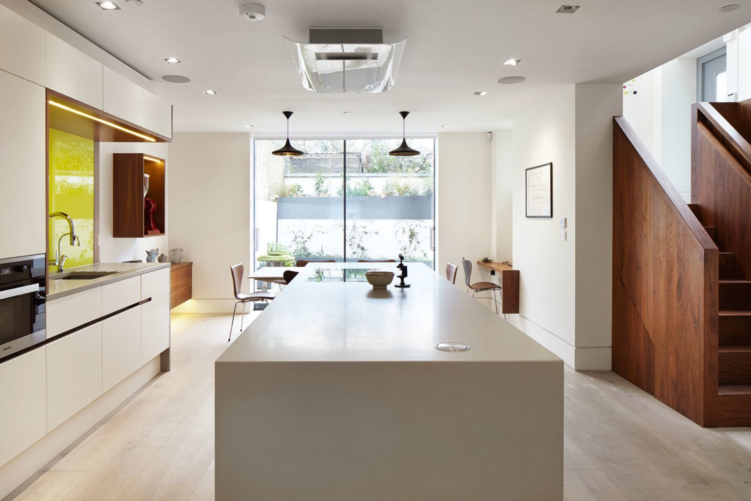Next Kitchen Lighting Photo 5 of 21 in 6 flooring options to consider for your next kitchen ceiling lighting recessed lighting white cabinet light hardwood floor pendant swipe for next workwithnaturefo