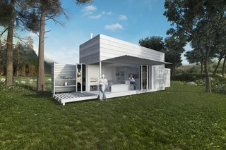 Hundra Kubik by Arkitektstudio Widjedal RackiPlaying off the Swedes' love of nature, this concept with a lofted bed opens up to the great outdoors, and is so flexible that it could be closed, folded up, and shipped off to a new locale on the back of a truck.