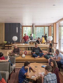 The extended clan, which includes about two dozen members, collaborated with Gray Organschi Architecture to design an inclusive home for three generations.