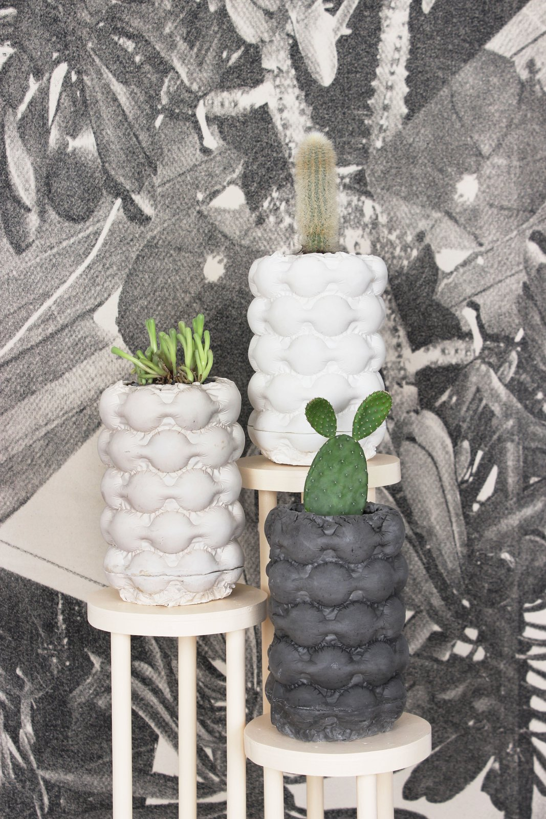 Come Out to the Coast   If the texture looks familiar, the studio's signature Bubble Planters are actually made from casting found bubble wrap with gypsum cement and epoxy resin.  Photo 4 of 9 in Brooklyn's Finest Unite for BKLYN DESIGNS 2016
