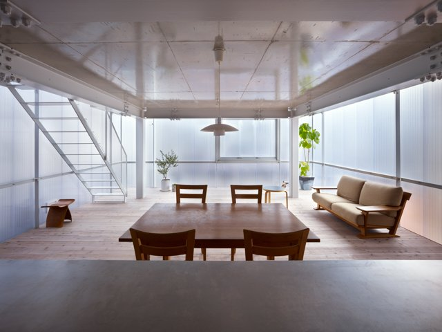 """Throughout the house, """"Walls become windows and windows become walls,"""" explains architect Makoto Tanijiri of the luminescent home he designed outside of Hiroshima with his firm Suppose Design Office.  Photo 2 of 5 in The Home That Glows in the Dark"""