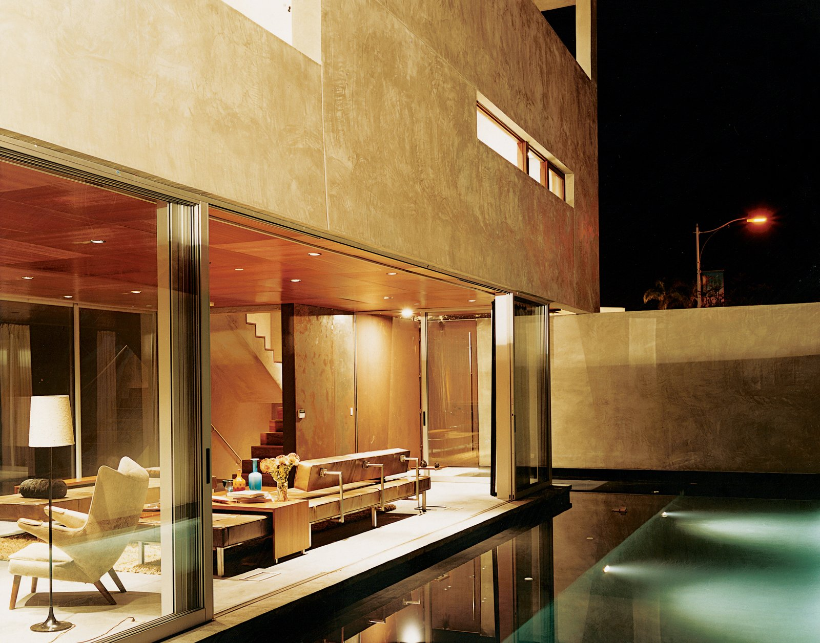 Outdoor and Swimming Pools, Tubs, Shower Apart from being visually stunning, the reflecting pool just outside of the living room also acts a sound barrier—the gurgling water cancels out traffic noise.  Photo 9 of 10 in The Jonathan