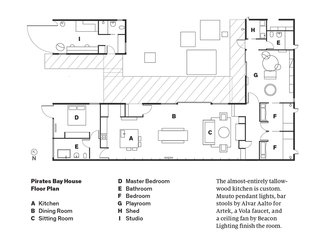 Local Wood Clads Every Surface of This Idyllic Australian Getaway - Photo 8 of 9 - Pirates Bay House Floor Plan