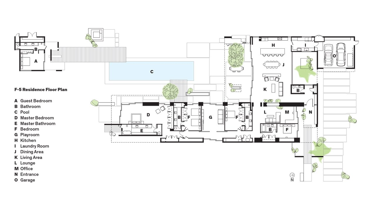 F-5 Residence Floor Plan  Photo 12 of 12 in Vacation Home in the California Desert is a Modernist Oasis
