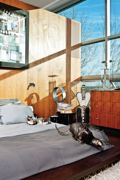 21 Cats Living in the Modern World - Photo 1 of 21 - The master bedroom; the painting is by Radcliffe Bailey.