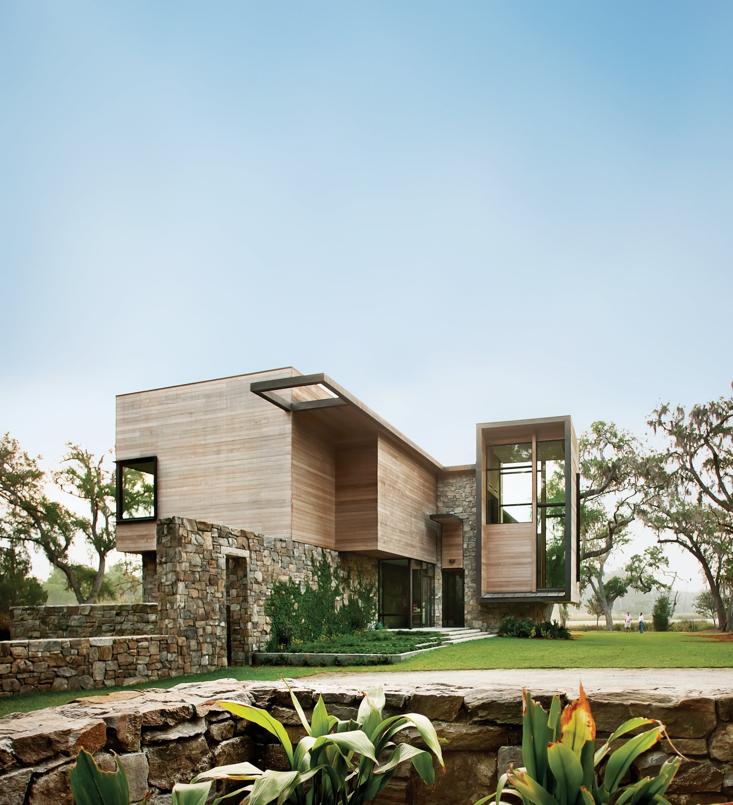 Photo by: Phillip Spears  Photo 1 of 1 in Modern Marsh House in South Carolina
