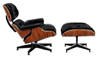 The smooth curves of molded plywood on the Eames Lounge and Ottoman were unprecedented in furniture design at the time.
