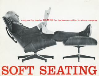 "The History Behind America's Favorite Chair: The Eames Lounge and Ottoman - Photo 3 of 10 - A 1959 advertisement for the Lounge set emphasizes its comfort. Another ad from the era reads ""A good chair, nowadays, is hard to find,"" and suggests that it's ""the only modern chair designed to relax you in the tradition of the good old club chair."" Charles took on the project because he was ""fed up with the complaints that modern isn't comfortable."""