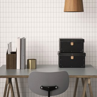 7 Wallpaper Designs That Will Instantly Revamp Your Space - Photo 9 of 14 - Apply the grid look from floor to ceiling with Ferm Living's WallSmart wallpaper, a new generation of non-woven wallpaper that is supposed to be easier and faster to hang.