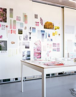 The Brightly Colored World of Designers Scholten & Baijings - Photo 4 of 9 - A view of the Scholten & Baijings studio in central Amsterdam, on a quai overlooking the River Ij. The studio has worked with Maharam, Established & Sons, HAY, Ikea, Karimokou New Standard, Georg Jensen, Moooi, J. Hill, 1616/Arita Japan, Thomas Eyck, and BMW Group/Mini, among others.