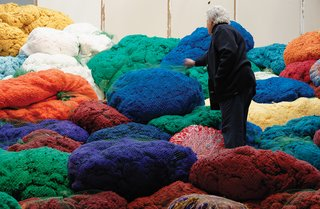 Sheila Hicks's Sunbrella Color Riot in Paris - Photo 1 of 1 -