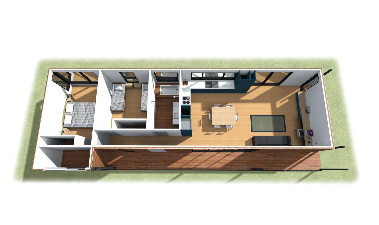 Avalon House Floor Plan  Photo 4 of 4 in A Dramatic Cliffside Prefab Steps from the Beach in Australia