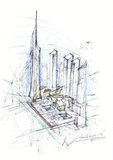 The Ground Zero master plan, designed by Libeskind.