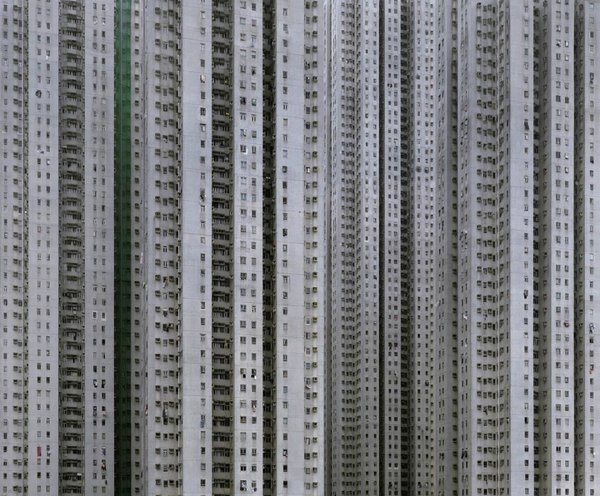 """Cropping the sky and horizons out of the images gives the buildings the illusion of what Wolf calls """"unlimited size""""—the possibility that they could be more than 100 stories tall, and perhaps a mile or more long. Photo by Michael Wolf, courtesy of the Flowers Gallery.  Photo 4 of 7 in Megacity Living in Hong Kong: Architecture of Density"""
