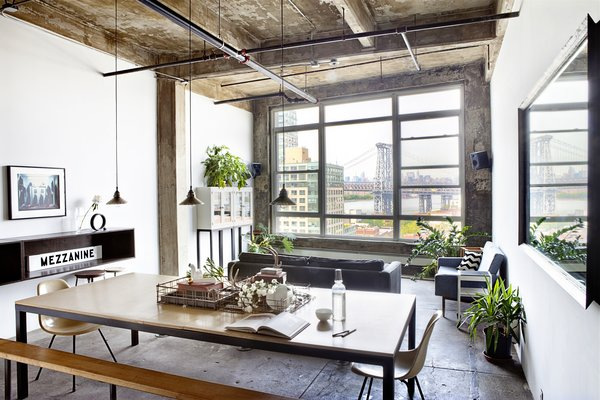 In a converted industrial loft in Brooklyn designed by Ksenya Samarskaya, the exposed poured-concrete ceiling and its texture were the result of trial and error efforts to achieve an effect that expressed both character and history.