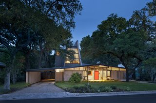 A 1960s midcentury home in Austin was renovated by local practice Webber + Studio, with a second story added while preserving the home's original character.