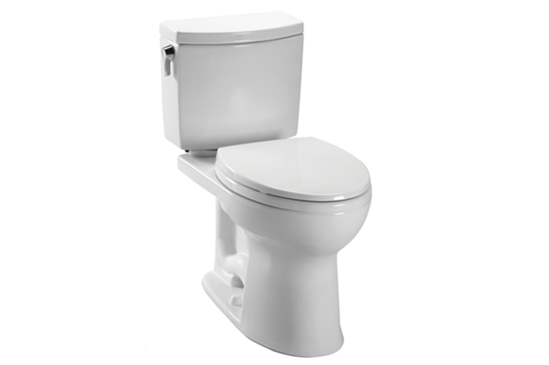 """<span style=""""line-height: 1.8;"""">Smart-flush toilets: Y</span>ou can save enormous amounts of water by buying the right appliances. In the bathroom, choose smart-flush toilet systems, like the Double-Cyclone mechanism employed in the TOTO Drake® II 1G Two-Piece Toilet, pictured. The system uses two nozzles to siphon water in a centrifugal, cyclonic motion, eliminating the need for multiple flushes."""