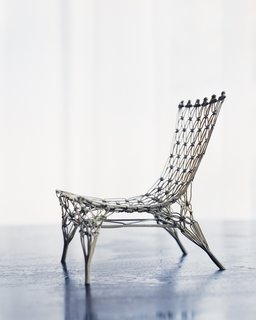 Wanders's Knotted Chair for Droog garnered him international acclaim in 1996.