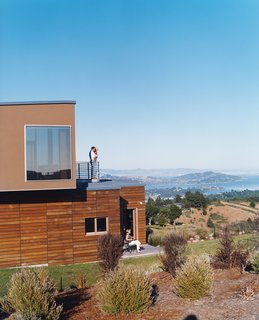 Untraditional in Marin - Photo 1 of 4 - Architect Lorcan O'Herlihy designed the Shermans' Mill Valley, California, home on top of an existing foundation that was intended for an 8,600-square-foot McMansion, but left abandoned for ten years.