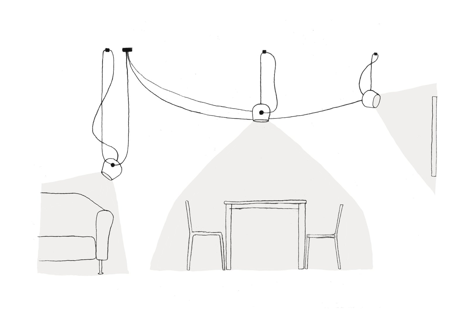A sketch for Flos' AIM pendant lamp. Image courtesy of Flos.  Photo 1 of 7 in 7 Tips For Reconsidering Your Home Lighting For Healthier Eyes